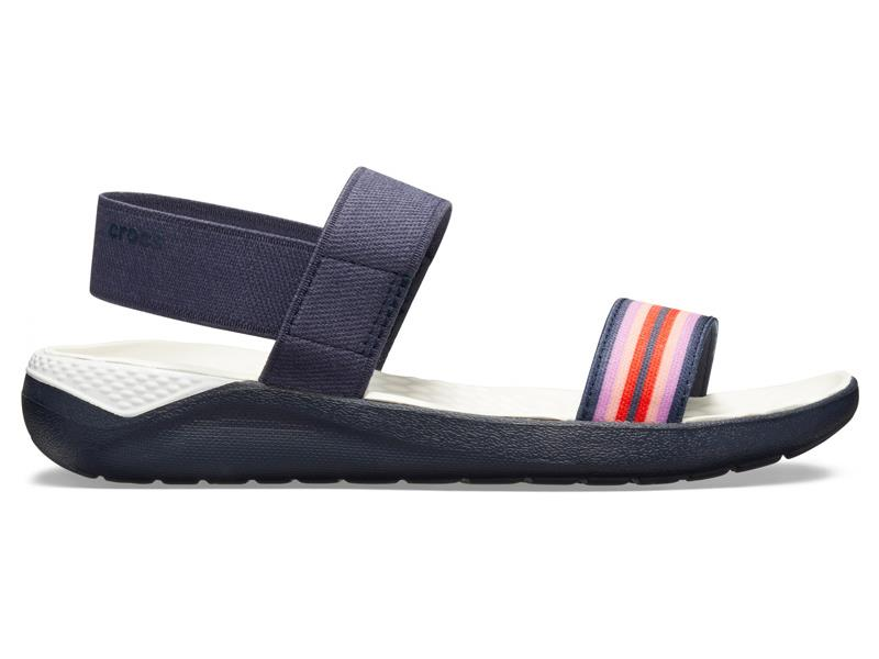 CROCS LITERIDE COLORBLOCK SANDAL WOMEN - Navy W9 (39-40)