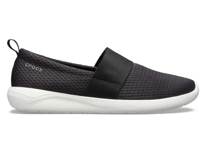 CROCS LITERIDE MESH SLIP ON WOMEN - Black/White W8 (38-39)