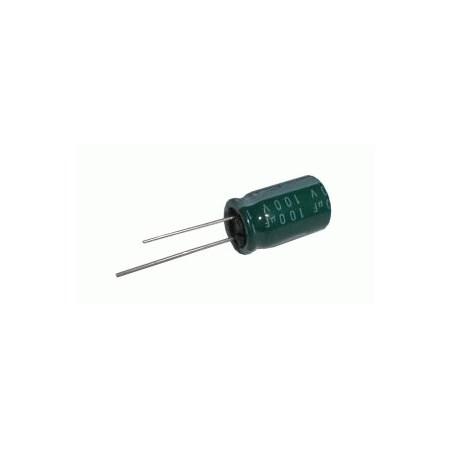 Kondenzátor elektrolytický 100M/100V 13x22-5     rad.C  *