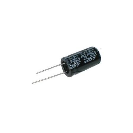 Kondenzátor elektrolytický   4G7/25V 16x30-7.5  105*C  rad.C