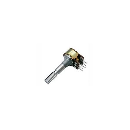 Potenciometr  10K/N  stereo  6/30mm