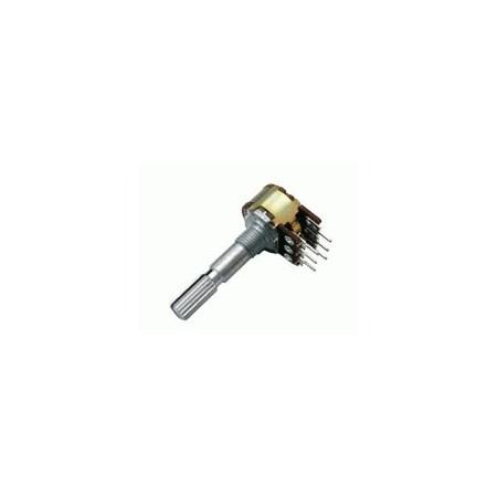 Potenciometr 250K/N  stereo  6/30mm