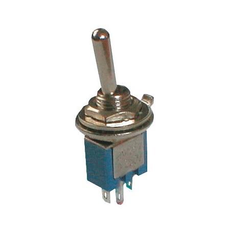 Přepínač páčkový     2pol./3pin  ON-ON mini