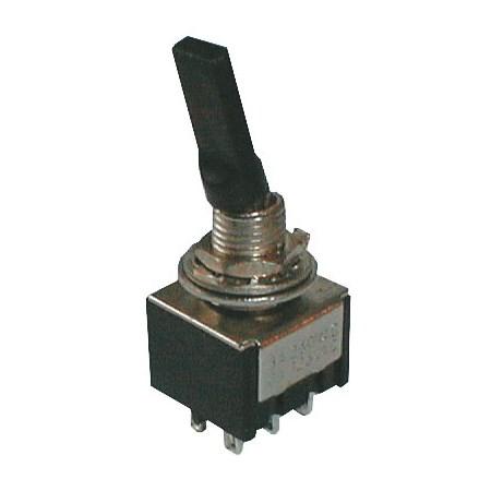 Přepínač páčkový    2pol./6pin  ON-ON plastic