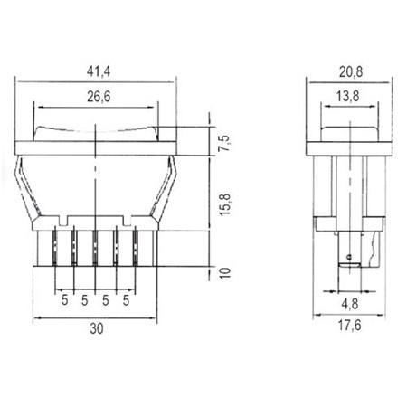 Přepínač kolébkový auto 20A/12VDC
