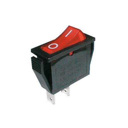 Přepínač kolébkový    2pol./2pin  ON-OFF 250V/15A červený