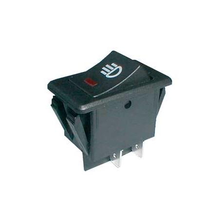 Přepínač kolébkový auto ON-OFF 35A/12VDC pros. bod červený
