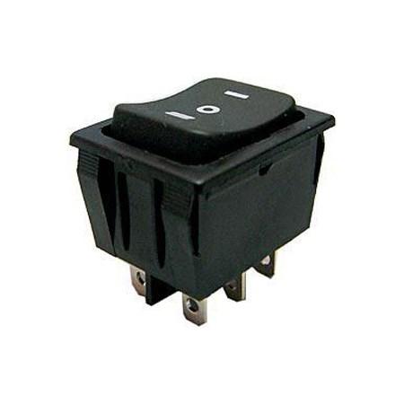 Přepínač kolébkový   3pol./6pin  (ON)-OFF-(ON) 250V/15A černý