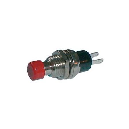 Přepínač tlačítko kul.    ON-(OFF) malý červený (12V)
