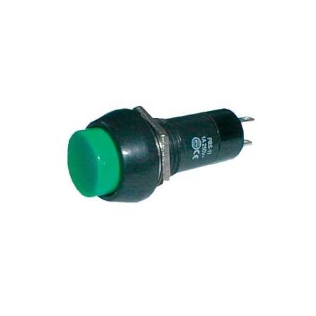 Přepínač tlačítko kul.  OFF-(ON) 250V/1A zelené