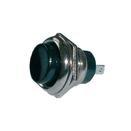 Přepínač tlačítko kul. OFF-(ON) velký černý