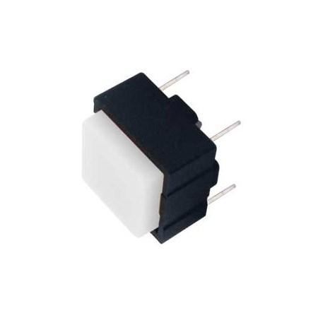 Přepínač tlačítko čtv. OFF-(ON) 12V/plošný spoj  bílé