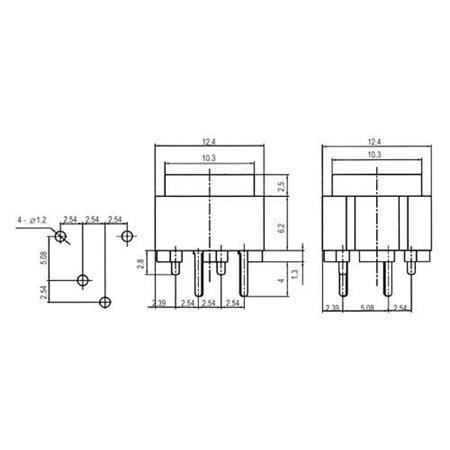 Přepínač tlačítko čtv. OFF-(ON) 12V/plošný spoj  červené