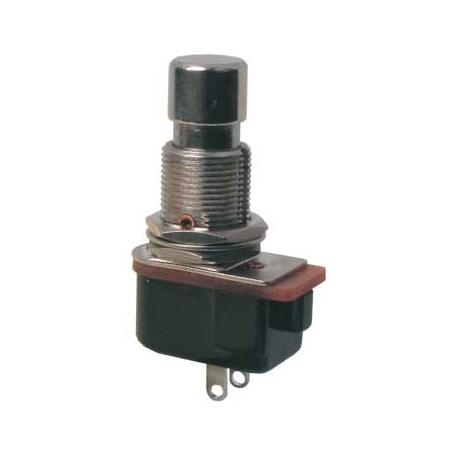 Přepínač tlačítko kul.ON-(OFF)  12V kov