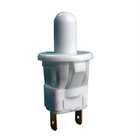 Přepínač tlačítko kul. typ-3 ON-(OFF) 250V/1A bílé
