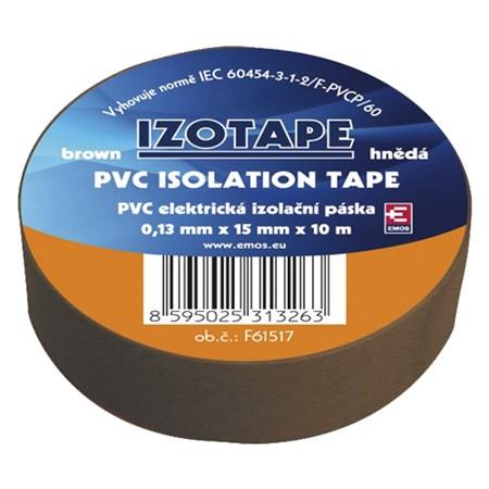 Izolační páska PVC 15/10m  hnědá