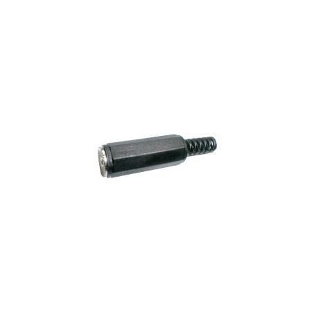 Zdířka 3.5 mono kabel  plast