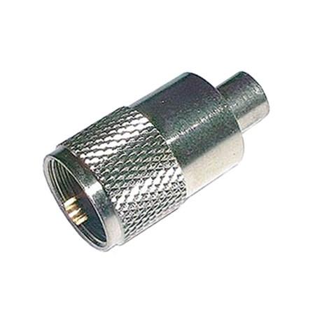 Konektor UHF (PL) kabel  5mm (RG58) samořez.-twist on