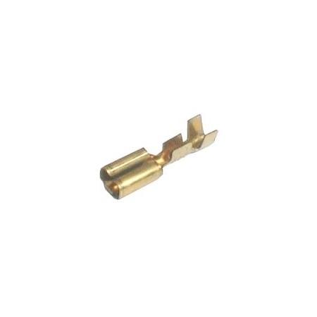 Zdířka faston  neizolovaná 4.8mm  0.3-1mm