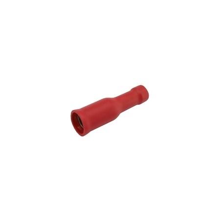 Zdířka kruhová 4mm, vodič 0.5-1.5mm  červená