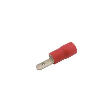 Konektor faston 2.8mm, vodič 0.5-1.5mm  červený
