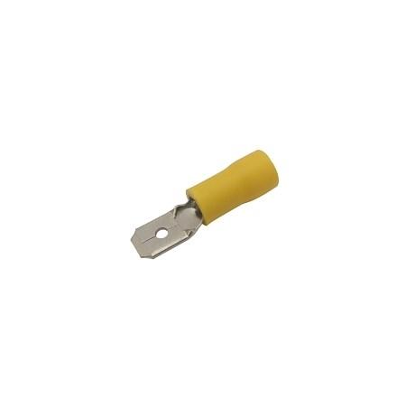 Konektor faston 6.3mm, vodič 4.0-6.0mm  žlutý