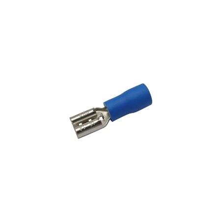 Zdířka faston 4.8mm, vodič 1.5-2.5mm  modrá