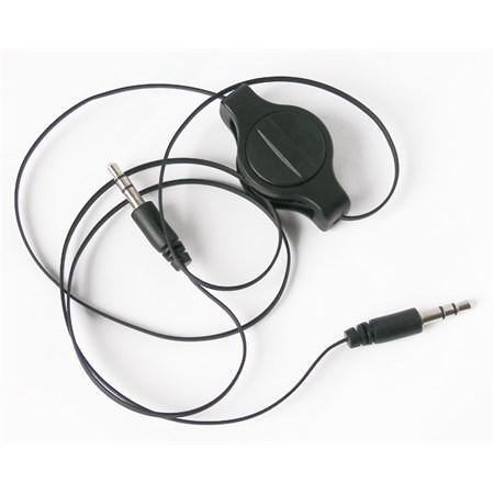 Kabel Jack 3.5 stereo - Jack 3.5 stereo  0,8m navíjecí