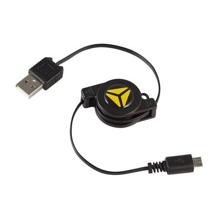 Kabel USB A / B micro YENKEE YCU 100R BK, svinovací