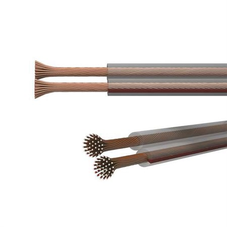 Dvojlinka ECO 2x1,0mm, průhledná, 100m