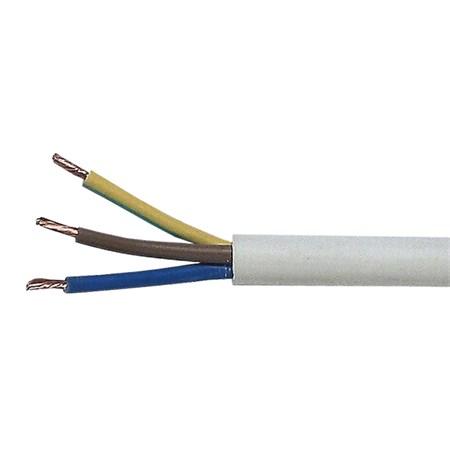 Kabel 3x1,5mm2 kulatý 230V H05VV-F (CYSY)