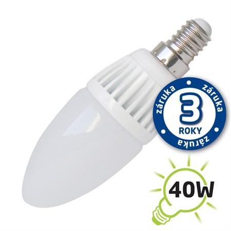 Žárovka LED C37 E14  5W bílá teplá (Al) TIPA