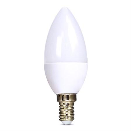 Žárovka C37 E14 6W bílá přírodní SOLIGHT