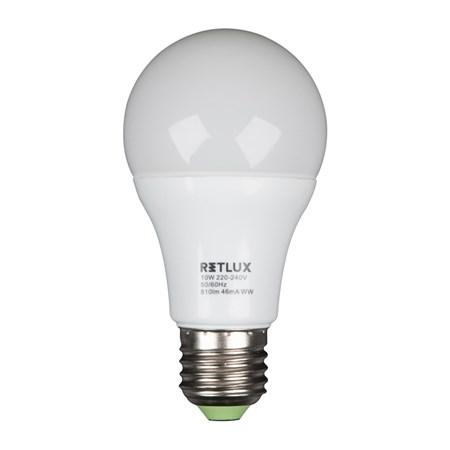 Žárovka LED A60 E27 10W bílá teplá RETLUX
