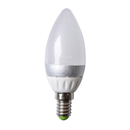 Žárovka LED C37 E14 4W bílá studená RETLUX