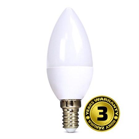 Žárovka LED C37 E14  6W bílá studená SOLIGHT
