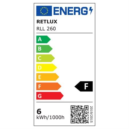 Žárovka LED C35 E14 6W RETLUX RL 260 bílá přírodní