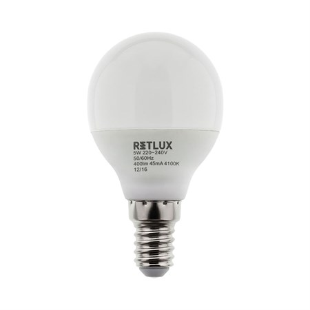 Žárovka LED G45 E14 6W RETLUX RLL 269 bílá přírodní