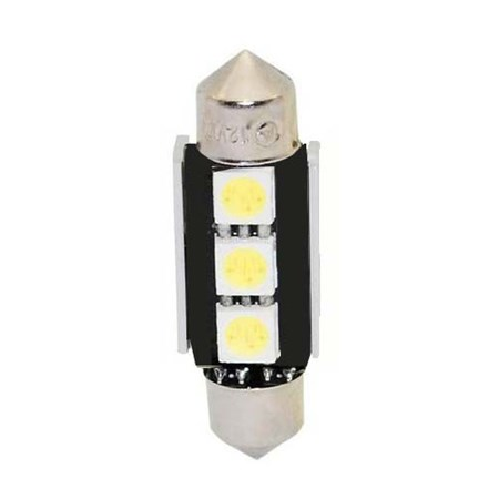 LED žárovka 12V s paticí sufit(36mm), 3LED/3SMD s chladičem 9523002cb