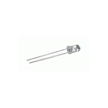 LED  5mm  bílá studená (9000K)  12000mcd/55°  čirá