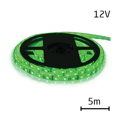 LED pásek 12V 5050  60LED/m IP20 max. 14.4W/m zelená 5 m