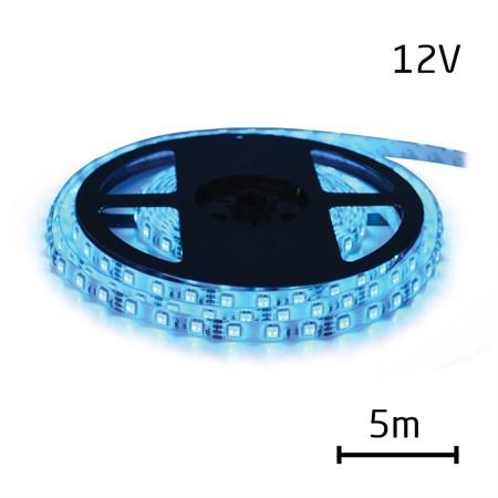 LED pásek 12V 5050  60LED/m IP65 max. 14.4W/m modrá 5 m zalitý