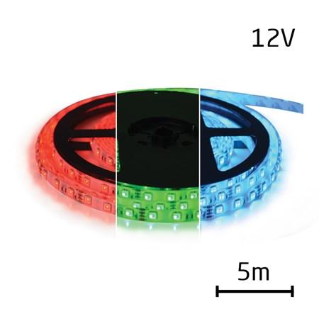 LED pásek 12V 5050  60LED/m IP20 max. 12W/m RGB 5 m