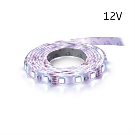 LED pásek 12V 3528 120LED/m IP65 max. 9.6W/m bílá studená (1ks=2,5cm) zalitý