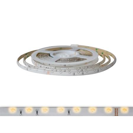 LED pásek 12V 335 (boční)  60LED/m IP65 max. 4.8W/m bílá teplá (1ks=cívka 5m) zalitý