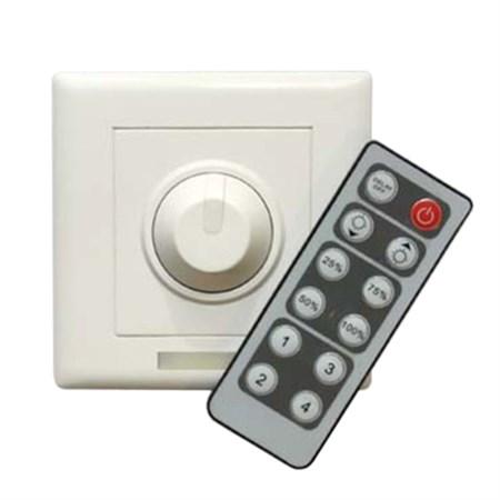 TIPA Nástěnný stmívač pro jednobarevné LED pásky 12V/24V, 8A, IR, OLP03