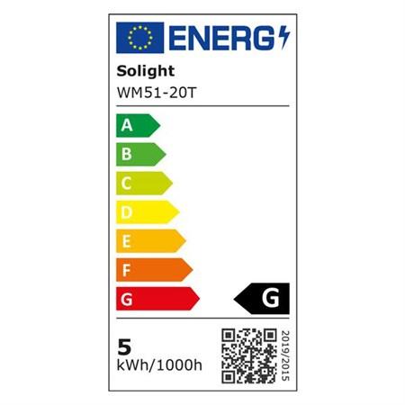 LED světelný pás s testrem, 5m, sada s 12V adaptérem, 4,8W/m, IP20, teplá bílá