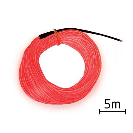 Kabel EL svítící 5m červený