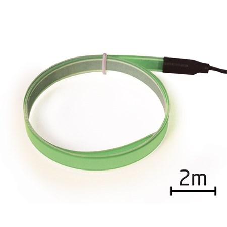 Pásek EL svítící 2m zelený