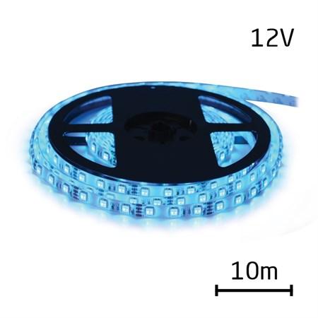 LED pásek 12V 3528  60LED/m IP65 max. 4.8W/m modrá (cívka 10m) zalitý
